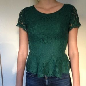 NWOT Short Sleeve Lace Top